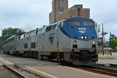 Amtrak Empire Builder Arriving in Red Wing Minnesota (rabidscottsman) Tags: scotthendersonphotography train rr railroad locomotive amtrak 207 amtrak207 transportation passengerservice nikon nikond7100 d7100 tamron tamron18270 18270