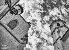Concatedral y Fadrí (J.Gargallo) Tags: castellón castellóndelaplana castelló comunidadvalenciana españa spain blancoynegro blanconegro byn bw blackwhite blackandwhite clouds canon canon450d canonefs18200 eos eos450d 450d