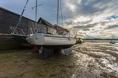 Awaiting the Next HighTide. (THE NUTTY PHOTOGRAPHER) Tags: boatsatlowtide boats dellquays chichester sussex