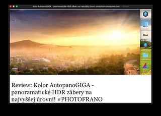 REVIEW: Kolor AutopanoGIGA - panoramaticke HDR zábery na najvyššej úrovni photofrano #PHOTOFRANO