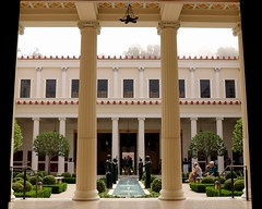 The Getty Villa ~ Malibu (Prayitno / Thank you for (12 millions +) view) Tags: paul getty villa malibu pacific ocean fog foggy mansion big house rich famous ca california la los angeles column architect architecture high ceiling pool courtyard jpaulgetty thegetty j roman