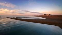 SENTINEL (Nick Seaman Photos) Tags: shingle sand tidal lowide tide benro kase leefilters leefilter ndgrad grad polarizer polariser zeiss a7rii sony greatbritain eastanglia skyline sky dawn sunrise beach coastal coast suffolk shinglestreet