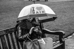 I Love Rain (Cycling-Road-Hog) Tags: blackwhite candid canoneos750d citylife colour efs1855mmf3556isstm edinburgh fashion lipstick mobile monochrome people phone places princesstreet scarf scotland street streetphotography streetportrait style umbrella urban woman