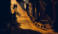 Vertical Illusion (Curious About Life) Tags: street sihouttes sunset leading lines istanbul