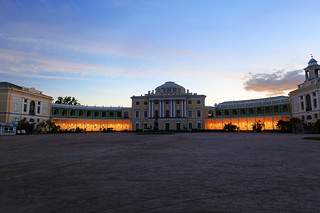 Pavlovsk Palace. Evening.