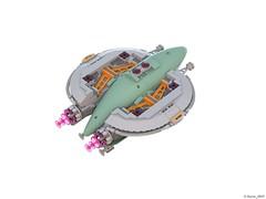 27 RETRO SPACE HERO'S SPACESHIP - Under (Nuno_0937) Tags: lego ideas classic space spaceship ship moc retro hero minifigure