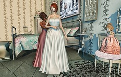 ♚ Look #547 ♚ (Caity Saint) Tags: is insomnia dress gown wedding friends baby truth sense event sl decoration secondlife redhead pixels