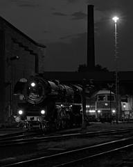 nightshift at the station (Carsten Weigel) Tags: monochrome schwarzweiss bw blackwhite carstenweigel panasonicg9 railway technik eisenbahn