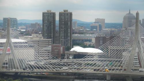 Charlestown, MA, Zakim Bridge seen from Bunker Hill Memorial [08.08.2013]