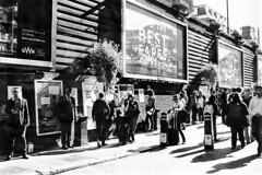 Smoking Area. (parnas) Tags: london paddingtonstation smoking zwartwit blackandwhite blackwhite analoog film ilforddelta streetphotography straat trainstation
