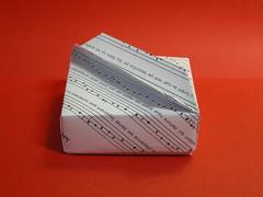 Masu lid from silver rectangle (Mélisande*) Tags: mélisande origami box masu a4
