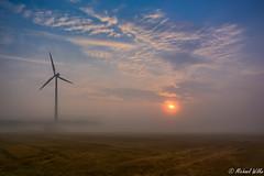 Faszination Nebel (Wilke Michael) Tags: nebel windrad wacheberg leutersdorf herbst himmel wolken