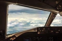 Heading West (Marcel Weichert) Tags: adi aerial airborne airplane aviation b777 boeing clouds cockpit cumulus cumulusnimbus flight flightdeck flying india mcp meteorology monsoon nimbus sky storm stratos technology threats weather