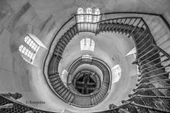 Der Blick von oben.............. (petra.foto busy busy busy) Tags: treppe treppenhaus spirale stairs monocrom jagtschloss schloss granitz insel rügen mecklenburgvorpommern germany architektur gebäude schwarzweis innen fotopetra canon 5dmarkiii turm