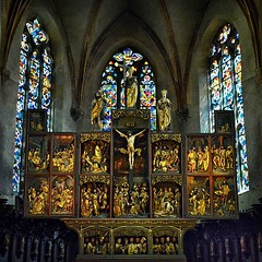Kaysersberg (Eric@focus) Tags: retable church vosges stainedglass altarpiece altarbild pse2018 posterized passionphotography handheld highiso nikond7100