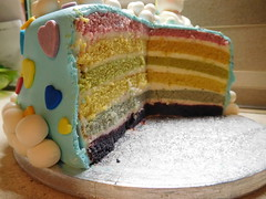 Rainbow Cake (dolciefantasia) Tags: biscotti cake cakedesign cakepops compleanno cupcake decorazione dolci dolciefantasia fantasia festa minicake pastadizucchero rainbowcake torta