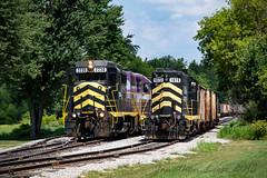 Rolling through Reading (conrail6809) Tags: emd gp30 gp40 gp403 dot dotx iner gp10 indiana northeastern trains locomotives diesel reading mi michigan