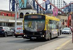 522 AU06BPF (PD3.) Tags: 522 au06bpf au06 bpf blackpool fleetwood fylde lancashire transport bus buses trams tram north pier central south pleasure beach pcv psv talbot square heritage volvo wright angliain