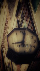 does anybody really know what time it is....? (BillsExplorations) Tags: slide slidersunday hss clock vintage store downtown mainstreet sepia jamies time pana illinois classic chicago doesanybodyreallyknowwhattimeitis