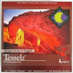 Mesa Arch - box lid (pefkosmad) Tags: jigsaw puzzle leisure hobby pastime tesselz mesaarch davidmuench tessellationjigsawpuzzle crescentseries complete used secondhand designsinnature tessellate canyonlandsnationalparkutah imaginationproject iproject pandaenterprises