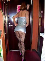 Silver mini dress (Nishi Yoko 西陽子 from Japan) Tags: shemale tgirl tranny transgender transvestite ladyboy crossdresser cd