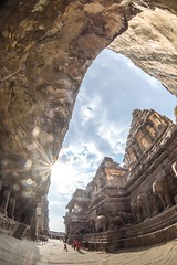 DSC_6291 (Ranjith_july) Tags: architecture archaeology paintings carvings india fisheye traveller wanderlust maharashtra aurangabad sky lowlight structure caves ellora ancient history buildings