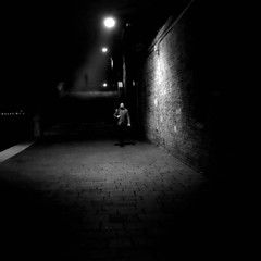 Night Stalker (Something Sighted) Tags: streetphotography night venice italy fog darkness silhouette square scènederue venise venezia italia fondamentenove
