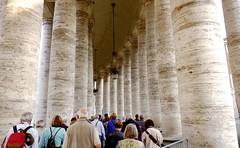 Covered Walkway at St. Peter's Basilica, Vatican City (Joseph Hollick) Tags: vatican stpetersbasilica walkway column