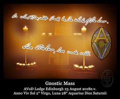 AVoD Lodge Edinburgh Gnostic Mass 25 August 2018 e.v. 2 (PHH Sykes) Tags: gnostic mass aleister crowley ordo templi orientis ecclesia gnostica catholica temple rite ritual oto egc