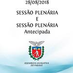 Sessão Plenária e Sessão Plenária Antecipada 28/08/2018