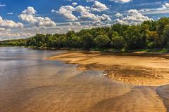 Vistula (bożenabożena) Tags: landscape river vistula sky clouds water forest sand summer krajobraz rzela niebo chmury woda piasek las wisła poland canon