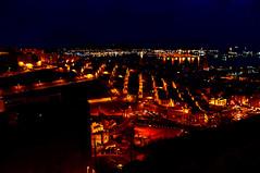 Las Palmas, night view (Visavis..) Tags: nightlights laspalmas grancanaria fujix100 35mmequiv urban