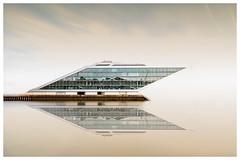 Dockland H.Teherani (fotoerdmann) Tags: spiegelung tag fotoerdmann longexposuretime langzeitbelichtung gu sky holzhafen elbe architekt gebäude architektur hamburg canon6dmark2