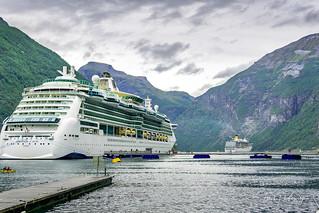 Cruise ships in Geiranger