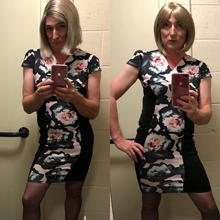 So .........new dress , and new hair ( on the right , normal me on the left ) any thoughts ??????