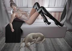 Mila Blauvelt (Mila Blauvelt) Tags: milablauvelt model blogger avatar virtual secondlife shopping sl style sensual exclusive events swank virtualfashion mesh maitreya meshavatar room boots bootsmesh lace earrings necklace