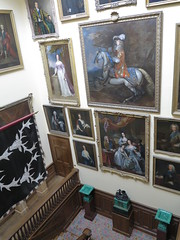 grand paints up the stairs (squeezemonkey) Tags: chatsworthhouse statelyhome england interior landing staircase paintings portraits familyportraits