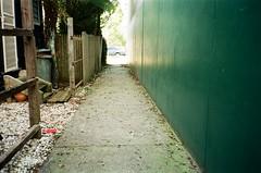 Alleyway (Matthew Paul Argall) Tags: canonsnappy20 fixedfocus 35mmfilm kodakultramax400 kodak400 400isofilm ultra footpath alleyway untouchedandunedited