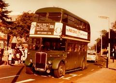London transport RT3160 on route 306.  1960's. (Ledlon89) Tags: bus buses london transport londonbus londonbuses lt lte lptb vintagebuses alltypesoftransport rtbus rt aec aecregent countrybus
