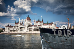 TRIP (iamunclefester) Tags: budapest trip parlament danube boat