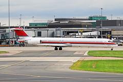 OY-RUT McDonnell Douglas MD-82 SAS Scandinavian Airlines (DAT Danish Air Transport) MAN 22AUG18 (Ken Fielding) Tags: oyrut mcdonnelldouglas md82 sas scandinavianairlines datdanishairtransport aircraft airplane airliner jet jetliner maddog