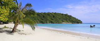 The lovely secluded Siam beach on Koh Racha