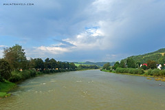 Dunajec river, Pieniny Mountains (majatravels) Tags: water river mountains landscape clouds trees poland slovakia
