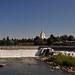 Snake River and Mormon Temple, Idaho Falls