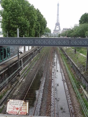 Inondation des voies du RER C lors de la crue de la Seine de juin 2016