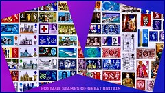 Postage Stamps of Great Britain (rustyruth1959) Tags: kingwenceslas writing text letters jetengines redcross silverjubilee border gradient queen sovereign queenelizabethi shakespeare cathedral bird church menaibridge postofficetower sterling shilling penny competition christmasstamp bluepeter concorde stampalbum postmark head queenelizabethii 1966 predecimal postagestampsofgreatbritain postagestamps stamps square rectangle ssc saturdayselfchallenge tamron16300mm nikond5600 nikon