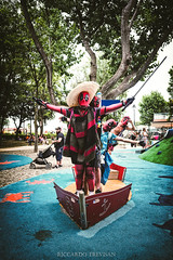 Deadpools' rally (Riccardo Trevisan) Tags: deadpool costume crazy funny wtf lol happy rally convention friends havingsomefun mess posing photoshooting marvel marvelcosplay deadpoolcosplay red parcogiochi playground parody stovolandojack katanas titanic standing rimini riminicomix riminicomix2018 summer summer2018 estate outdoor outdoorphotography photoshoot comix daylight