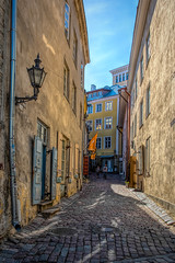 *** (donnicky) Tags: hdr tallin architecture building city daylight direction footwalk footpath narrow old oldfashioned outdoor pavingstone publicsec residentialbuilding shadow sky street summer sunlight thewayforward travel walking wall windows yellow tallinn harjumaakond estonia ee d850