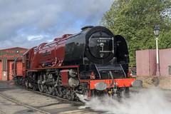 Gleeming (4486Merlin) Tags: duchessofsutherland semi 6233 england europe exlms heritagerailways lms8pduchess midlandrailwaycentre midlands railways steam transport unitedkingdom swanwick derbyshire gbr