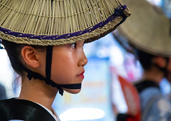 Japanese child with straw hat during the Koenji Awaodori dance summer street festival, Kanto region, Tokyo, Japan (Eric Lafforgue) Tags: yukata women traveldestinations traditionalfestival traditionalclothing tokyo street strawhat sideview ren photography performer performancegroup performance outdoors onewomanonly oneperson night koenjiren koenjiawaodori kantoregion japaneseculture japan horizontal headwear festival event dancing cultures colorimage celebration capitalcities awaodori awadancefestival asia artscultureandentertainment amigasa adult japon jp